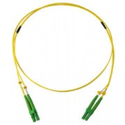 LC to LC SM 9/125um OS2 G655 2mm Duplex Fiber Optic Patch Cord 1Mtr Optictronic